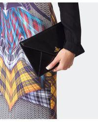 Vivienne Westwood Black Patent Clutch Bag