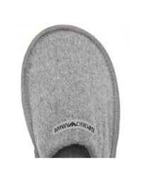 Emporio Armani Gray Logo Slippers for men
