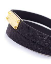 Marc Jacobs - Black Standard Supply Leather Bracelet - Lyst