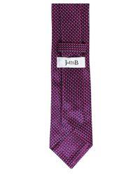 Ascot Accessories - Purple Silk Patterned Tie for Men - Lyst