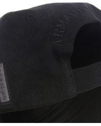 Armani Jeans Black Logo Cap for men