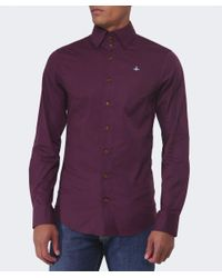 Vivienne Westwood Red Three Button Orb Shirt for men