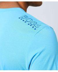 BOSS - Blue Regular Fit Crew Neck Tee T-shirt for Men - Lyst