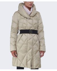 Creenstone - Natural Emily Long Quilted Coat - Lyst