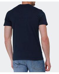 La Martina - Blue Logo T-shirt for Men - Lyst