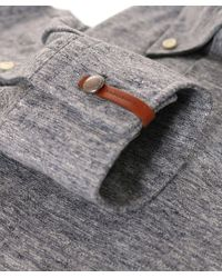 Baldessarini - Gray Tailored Fit Jersey Bale Shirt for Men - Lyst
