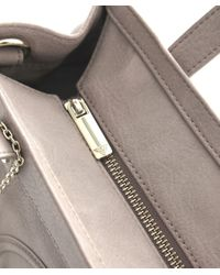 Armani Jeans Natural Small Leather Shopper Bag