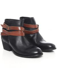 H by Hudson | Black Horrigan Calf Leather Boots | Lyst