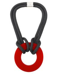 Christina Brampti - Gray Double Rope Circle Necklace - Lyst