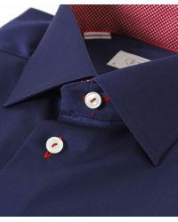 Eton of Sweden Blue Contemporary Fit Trim Insert Shirt for men