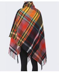 Vivienne Westwood Orange Tartan Cape
