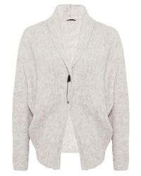 Oska | Natural Marieta Wool Wrap Jacket | Lyst