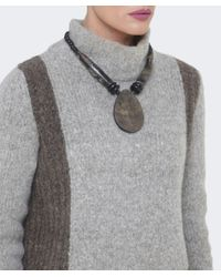 Jules B - Black Oval Horn Necklace - Lyst