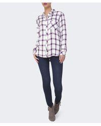 Mancini Blue Rachael Contrast Stitch Jeans