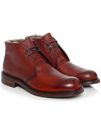 Cheaney Blue Shackleton Fur Lined Boots for men