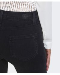 PAIGE - Black Joannie High Rise Bell Canyon Jeans - Lyst