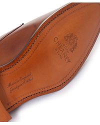 Cheaney Brown Liverpool Derby Shoes for men