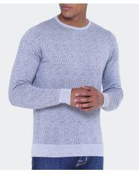 John Smedley - Gray Jacquard Wool Jumper for Men - Lyst