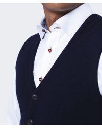 BOSS Orange Blue Knitted Klet Waistcoat for men