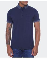 BOSS Orange Blue Pique Prynce Polo Shirt for men