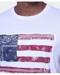 BOSS Orange White Taye2 Paisley Flag T-shirt for men