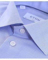 Eton of Sweden - Blue Slim Fit Gingham York Twill Shirt for Men - Lyst