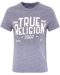 True Religion | Gray Crew Neck Mfg Co T-shirt for Men | Lyst