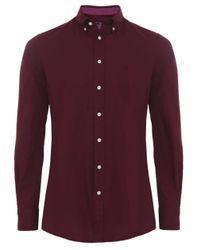 Hackett   Blue Slim Fit Oxford Shirt for Men   Lyst