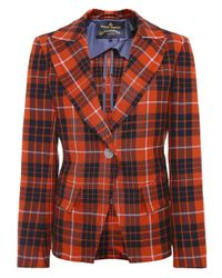 Vivienne Westwood Anglomania | Multicolor Tailored Tartan Jacket | Lyst