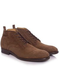 H by Hudson | Blue Cooke Suede Chukka Boots for Men | Lyst