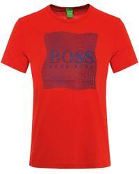 BOSS Green   Orange Modern Fit Tee 8 T-shirt for Men   Lyst