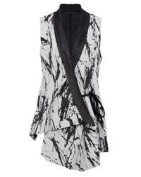 Crea Concept - Black Silver Birch Print Waistcoat - Lyst