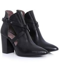 H by Hudson | Black Geneve Cut Out Boot Heels | Lyst