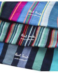 Paul Smith - Blue Three Pack Of Socks for Men - Lyst