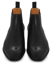 PS by Paul Smith - Black Leather Falconer Chelsea Boots for Men - Lyst