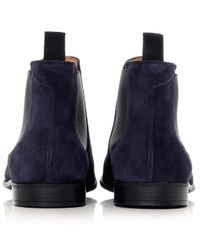 PS by Paul Smith - Blue Suede Falconer Chelsea Boots for Men - Lyst