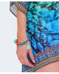 Butterfly - Blue Beaded Columbia Road Coil Bracelet - Lyst