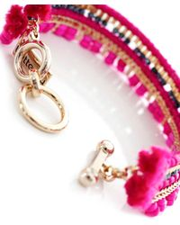 Butterfly - Pink Beaded The City Bracelet - Lyst
