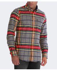 Barbour - Gray Castlebay Plaid Button Down Shirt for Men - Lyst