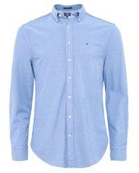 Gant Blue Regular Fit Tech Prep Pique Shirt for men