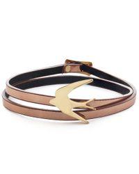 McQ Alexander McQueen - Metallic Mini Swallow Bracelet - Lyst