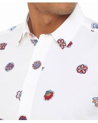 PS by Paul Smith White Slim Fit Floral Shirt for men