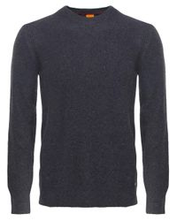 BOSS Orange | Gray Wool Crew Neck Acesto Jumper for Men | Lyst