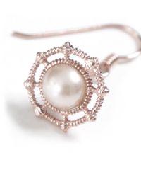 Vivienne Westwood Pink Isolde Pearl Drop Earrings