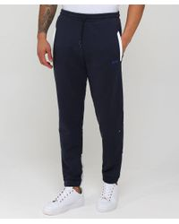 BOSS - Blue Jersey Halko Sweatpants for Men - Lyst
