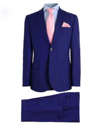 Paul Smith - Blue Tailored Fit Wool Suit for Men - Lyst