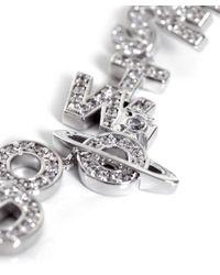 Vivienne Westwood - Metallic Soho Slogan Drop Earrings - Lyst