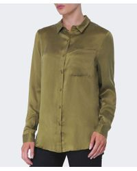 Gestuz Green Latifa Silk Shirt