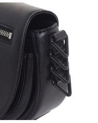 Rebecca Minkoff Black Mini Astor Saddle Bag