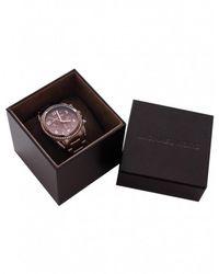 MICHAEL Michael Kors - Brown Antique Effect Diamante Michael Kors Watch Mk5493 for Men - Lyst